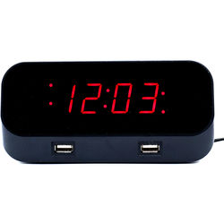 Mini Gadgets Bush Baby Alarm Clock with 1080p Covert Wi-Fi Camera