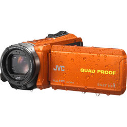 JVC Everio GZ-R440DUS Quad-Proof HD Camcorder (Orange)