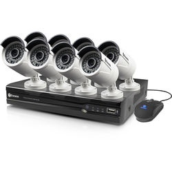 Swann 8-Channel 4MP NVR with 2TB HDD and 8 4MP Outdoor Night Vision Bullet Cameras