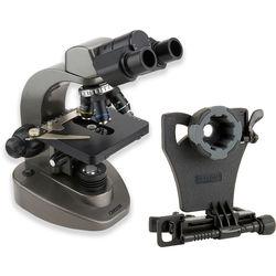 Carson MS-160 Binocular Biological Microscope & Universal Adapter for Smartphones Kit