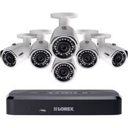 Lorex by FLIR 8-Channel 4MP NVR with 2TB HDD and 6 3MP Outdoor Night Vision Bullet Cameras