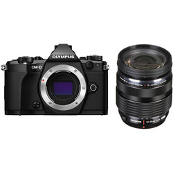 Olympus OM-D E-M5 Mark II Mirrorless Micro Four Thirds Digital Camera with 12-40mm Lens Kit (Black)