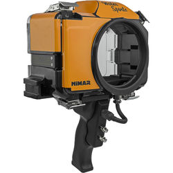 Nimar Base Water Sports Housing with Pistol Grip for Sony Alpha a6300 or a6500 (Orange/Clear)