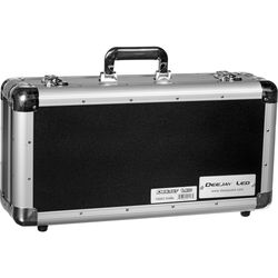 DeeJay LED 4-Row CD Case for 100 Jewel Cases/200 Plastic Sleeves (Black)