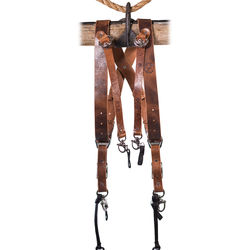HoldFast Gear Money Maker 3-Camera Leather Harness (Tan, Silver Hardware, Small)