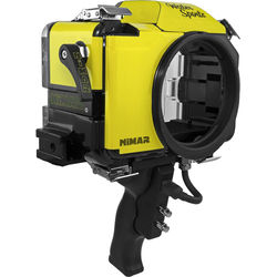 Nimar Water Sports Housing with Pistol Grip for Nikon D3300 or D3400 (Yellow/Clear)