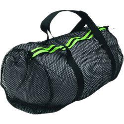 Innovative Scuba Concepts Heavy-Duty Mesh Duffel Bag (Medium, Black/Yellow)