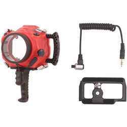 AquaTech BASE Water Housing with Cable Release and Camera Plate Kit for Canon EOS 70D or 80D