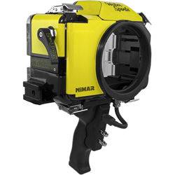 Nimar Water Sports Housing with Pistol Grip for Nikon D5500 or D5600 (Yellow/Clear)