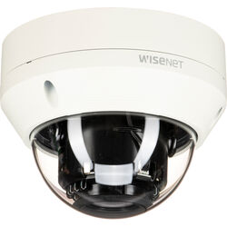 Hanwha Techwin WiseNet HD+ 2MP Outdoor Vandal-Resistant Dome Camera with 2.8-12mm Manual Varifocal Lens & Night Vision