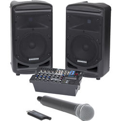 Samson Expedition XP800 800W Portable PA System with Stage XPD1 Handheld Wireless Microphone System