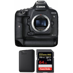 Canon EOS-1D X Mark II DSLR Camera Body with Storage Kit