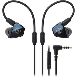 Audio-Technica Consumer ATH-LS400iS In-Ear, Quad Armature Driver Headphones with In-Line Mic and Control