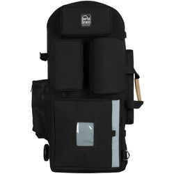 Porta Brace Wheeled Rigid-Frame Cordura Backpack for Select Broadcast Cameras with Accessories