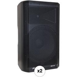 """Peavey DM 115 15"""" 2-Way 205W Powered Speaker Pair Kit"""