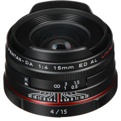 Pentax HD Pentax DA 15mm f/4 ED AL Limited Lens (Black)