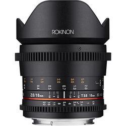 Rokinon 16mm T2.6 Full Frame Cine DS Lens (Canon EF Mount)
