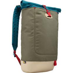 """Case Logic Larimer Rolltop Backpack for 15"""" MacBook & 10.1"""" Tablet (Petrol Green)"""
