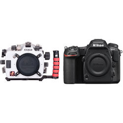 Ikelite Underwater Housing with Four Lock Port Mount and Nikon D500 Camera Body Kit