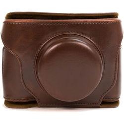MegaGear Ever Ready Leather Camera Case for Fujifilm X30 (Dark Brown)