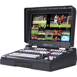 """Datavideo 12-Input HD-SDI And HDMI Hand Carried Mobile Studio With Built-In 17.3""""LCD Monitor & 8 Channel In"""