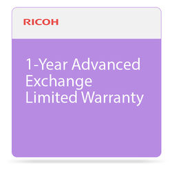 Ricoh 1-Year Advanced Exchange Limited Warranty for SP 377DNwX Printer