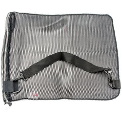 """Innovative Scuba Concepts Econo Mesh Drawstring Bag with D-Ring and Shoulder Strap (Small, 16 x 20"""", Black)"""
