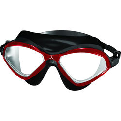 Innovative Scuba Concepts Panorama Swim Goggles (Adult, Red/Black)
