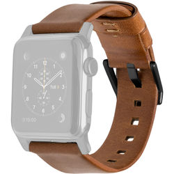 Nomad Leather Strap for 42mm Apple Watch (Black Hardware)
