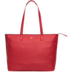 """KNOMO USA Maddox Leather Top-Zip Tote for 15"""" Laptop (Chilli)"""