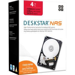 """HGST 4TB Deskstar 7200 rpm SATA III 3.5"""" Internal NAS Drive Kit"""