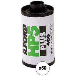 Ilford HP5 Plus Black and White Negative Film (35mm Roll Film, 36 Exposures, 50 Pack)