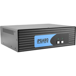 IPGard SDHN-2D-P 2-Port Dual-Head 4K DP-to-HDMI KVM Switch with CAC Port