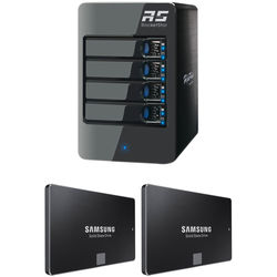 HighPoint RocketStor 6314A 2TB 4-Bay Thunderbolt 2 RAID Enclosure with SSDs Kit (2 x 1TB)