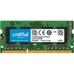 Crucial 8GB 204-pin SODIMM DDR3 PC3-10600 Memory Module for Macintosh