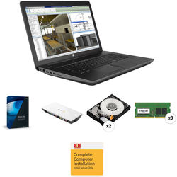 """B&H Photo Portable Workstation 17.3"""" ZBook 17 G3 Mobile Workstation with Blackmagic Design Intensity Shuttle and Vegas Pro 14"""