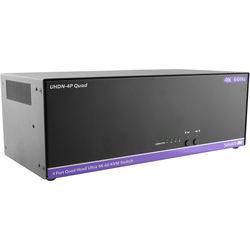 Smart-AVI 4-Port, Quad Head 4K-60Hz KVM Switch.