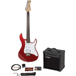 Yamaha Gigmaker Electric Bundle - Pacifica PAC012 Electric Guitar & 15-Watt Amplifier with Accessories (Red)