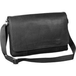 "Savile Row Computer Messenger Bag for 15"" Laptop (Black)"