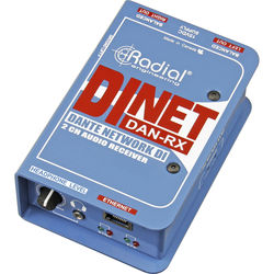 Radial Engineering DiNET DAN-RX Dante-Enabled Stereo D/A Converter