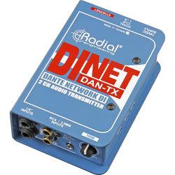Radial Engineering DiNET DAN-TX Dante-Enabled Stereo DI Box
