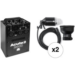 Profoto Acute 2 2400W/s 2 Head Pro Value Pack (90-260V)