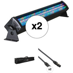 American DJ 2x Mega Bar 50-RGB RC - Light Bar Kit with Carry Bag and 2x DMX Cables