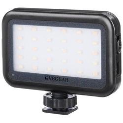 GVB Gear Mini LED On-Camera Light with USB Charging Port