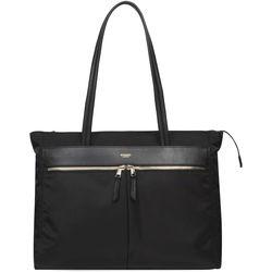 KNOMO USA Grosvenor Square Top Zip Tote Bag (Black)