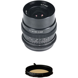 SLR Magic Cine 25mm f/1.4 Lens and Variable ND Filter Kit (Sony E-Mount)