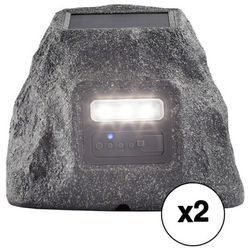 ION Audio Solar Stone Glow All-Weather Wireless Speaker Pair Kit
