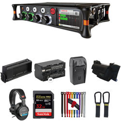 Sound Devices MixPre-6 Essentials Kit with Case, Li-ion Battery, Sled, and More