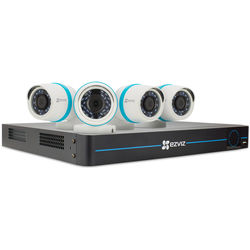 ezviz BN-1824A2 8-Channel 1080p NVR with 2TB HDD and 4 1080p Outdoor Network Bullet Cameras