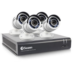 Swann DVR-4595 4-Channel 3MP DVR with 1TB HDD and 4 1080p Outdoor Bullet Cameras